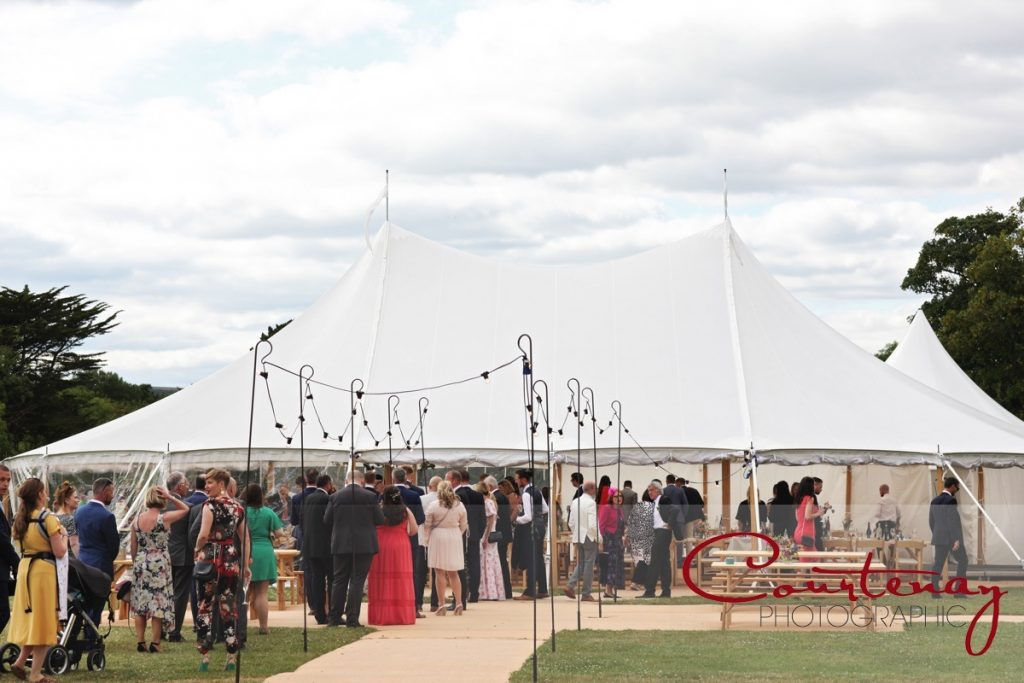 Smedmore House wedding marquee