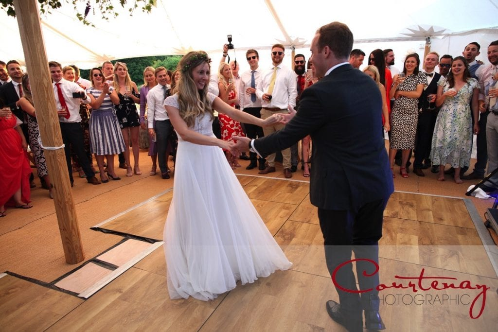 Smedmore House wedding first dance in marquee