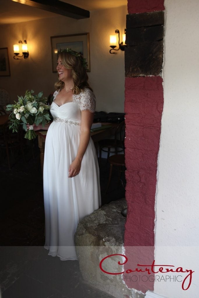pregnant bride at Coppleridge Inn Wedding