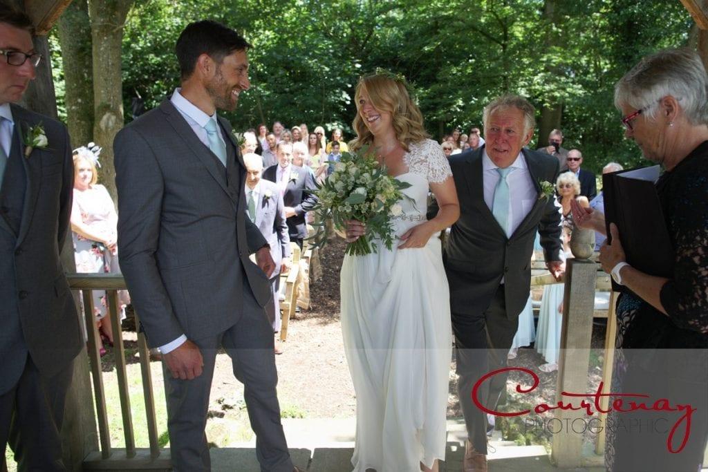 Coppleridge Inn Wedding outdoor ceremony