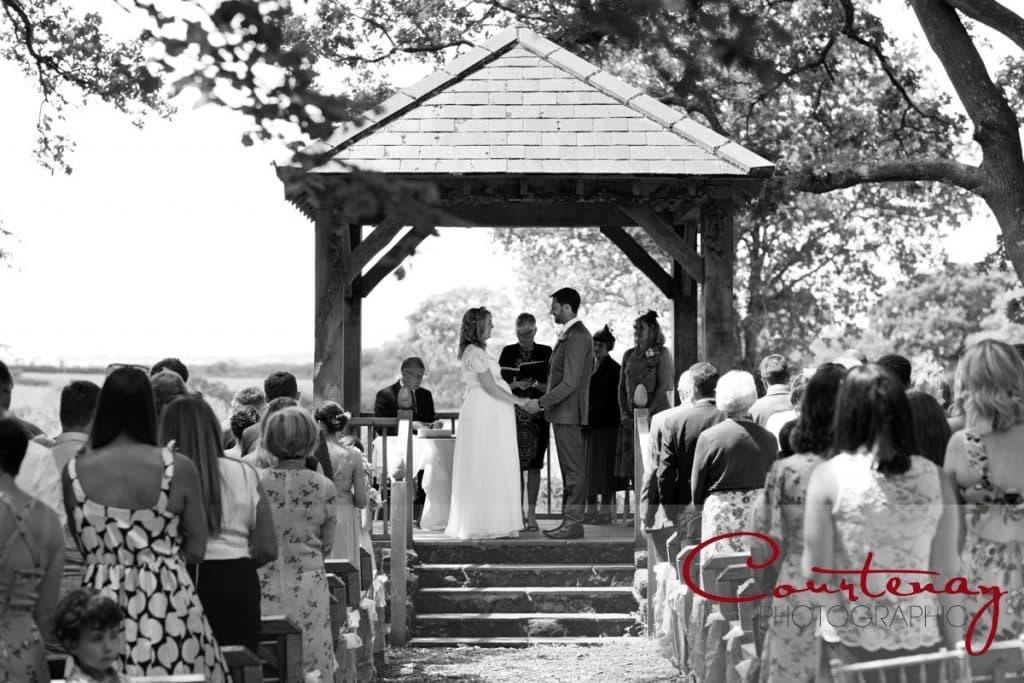 Coppleridge Inn Wedding woodland marriage ceremony