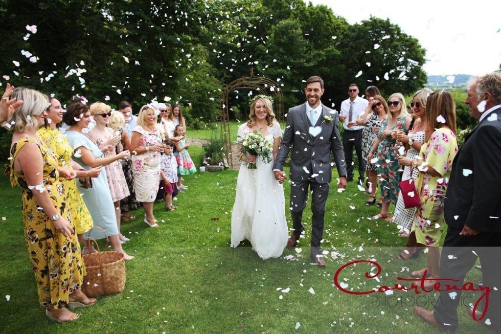 Coppleridge Inn Wedding confetti