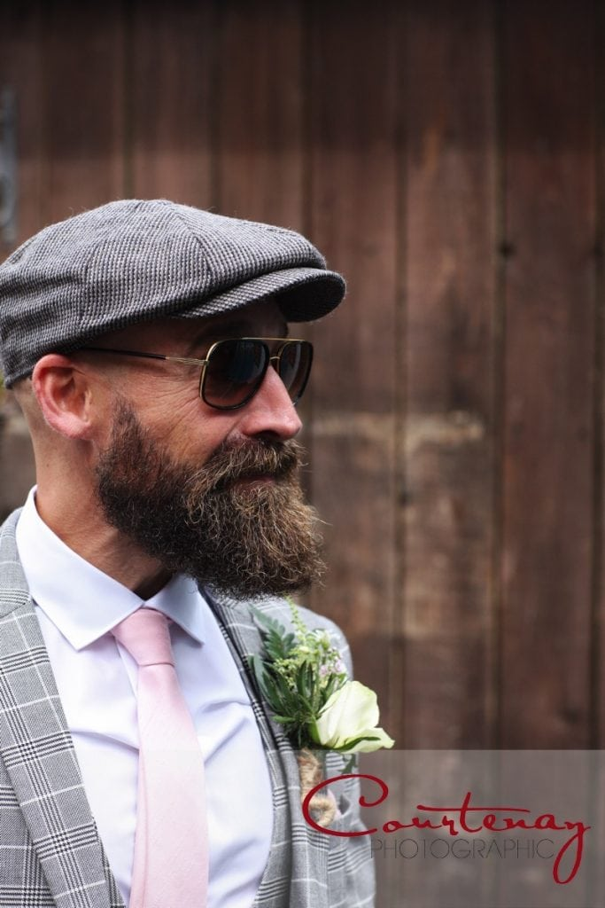 Scaplens Court Wedding hipster groom