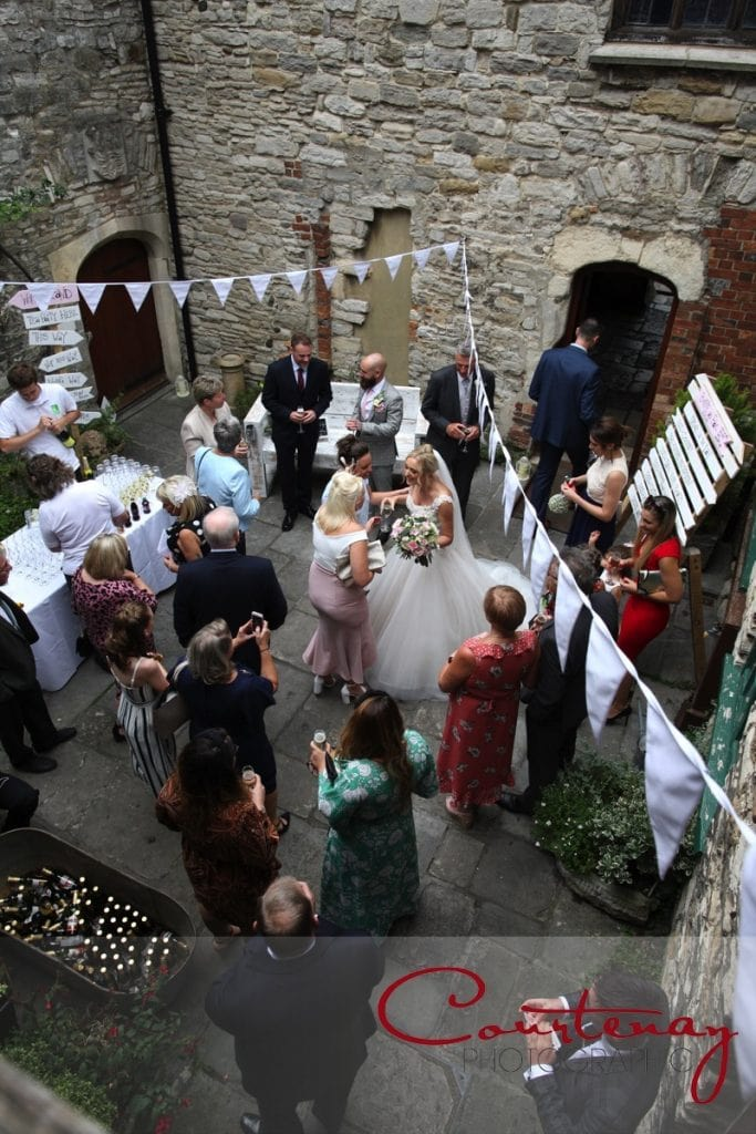 Scaplens Court Wedding inner courtyard